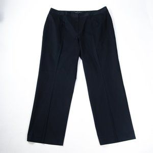 Lafayette 148 Black Cotton Stretch Dress Pants